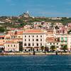 Archipelago of La Maddalena: sea view of La Maddalena town.
