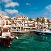 Archipelago of La Maddalena: La Maddalena Island, touristic harbour called Cala Gavetta.