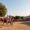 Sedilo, Italy - 06.07.2012. Ardia di San Costantino horse race. Photo: a moment of the race.
