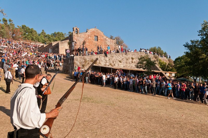 Sedilo, Italy - 06.07.2012. Ardia di San Costantino horse race.