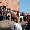 06.07.11 - Sedilo, Sardinia, Italy: Ardia Festival. The Ardia is one of the most important traditional events of Sardinia, a ritual horse race which envolve over 100 brave horsemen every year on 6 and 7 of july in honour of St. Constantine - (ITA) Sedilo: l'Ardia di San Costantino, sfrenata corsa a cavallo fatta in onore di San Costantino, che si svolge ogni anno a Sedilo il 6 e il 7 luglio e ricorda la battaglia di Ponte Milvio tra Costantino e Massenzio. Nella foto, i cavalieri mentre girano intorno alla chiesa di San Costantino, come vuole la tradizione.