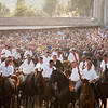 "06.07.11 - Sedilo, Sardinia, Italy: Ardia Festival. The Ardia is one of the most important traditional events of Sardinia, a ritual horse race which envolve over 100 brave horsemen every year on 6 and 7 of july in honour of St. Constantine - (ITA) Sedilo: l'Ardia di San Costantino, sfrenata corsa a cavallo fatta in onore di San Costantino, che si svolge ogni anno a Sedilo il 6 e il 7 luglio e ricorda la battaglia di Ponte Milvio tra Costantino e Massenzio. I cavalieri radunati a ""sa muredda"""