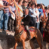 06.07.11 - Sedilo, Sardinia, Italy: Ardia Festival. The Ardia is one of the most important traditional events of Sardinia, a ritual horse race which envolve over 100 brave horsemen every year on 6 and 7 of july in honour of St. Constantine - (ITA) Sedilo: l'Ardia di San Costantino, sfrenata corsa a cavallo fatta in onore di San Costantino, che si svolge ogni anno a Sedilo il 6 e il 7 luglio. Il capocorsa riceve la benedizione davanti al Santuario di San Costantino.