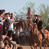 06.07.11 - Sedilo, Sardinia, Italy: Ardia Festival. The Ardia is one of the most important traditional events of Sardinia, a ritual horse race which envolve over 100 brave horsemen every year on 6 and 7 of july - (ITA) Sedilo: l'Ardia di San Costantino, sfrenata corsa a cavallo fatta in onore di San Costantino, che si svolge ogni anno a Sedilo il 6 e il 7 luglio. Il capocorsa riceve la benedizione davanti al Santuario di San Costantino.