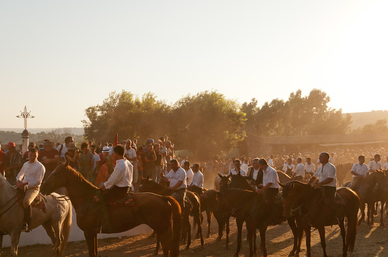 Sedilo, Italy - 06.07.2012. Ardia di San Costantino horse race. A moment of the event.