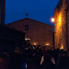 Aggius, Italy. 6th April 2012 -- Rituals are done on Good Friday in Aggius during the Holy Week. The ceremonies of the procession and the deposition of the cross are carried out throughout the streets.