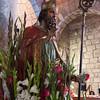 Olbia, 15.05.2012. Festa di San Simplicio. La statua di San Simplicio, Patrono di Olbia e della Gallura, all'interno della Basilica che porta il suo nome.