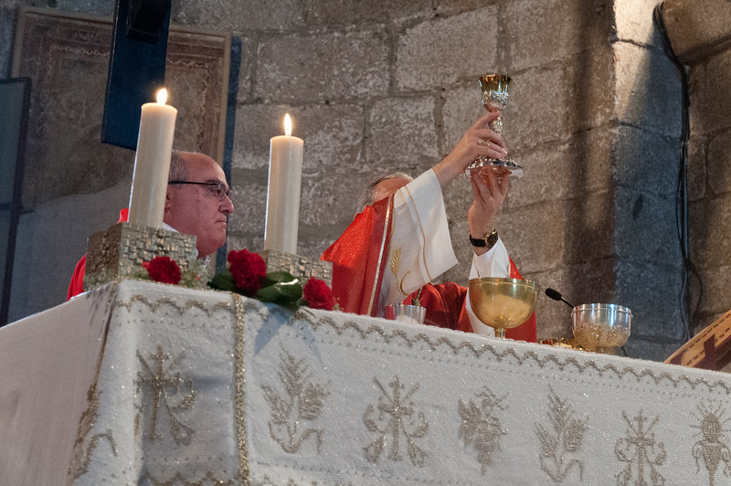 Olbia, 15.05.2012. Festa di San Simplicio. Un momento della Messa Solenne in onore di San Simplicio, Patrono di Olbia e della Gallura, celebrata dal Vescovo Mons. Sebastiano Sanguinetti.
