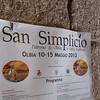 Olbia, 15.05.2012. Festa di San Simplicio. Manifesto degli eventi all'interno della Basilica di San Simplicio.