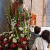 Olbia, 15.05.2012. Festa di San Simplicio. Fedeli rendono omaggio alla statua di San Simplicio, Patrono di Olbia e della Gallura, all'interno della Basilica che porta il suo nome.