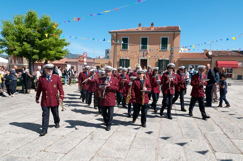 Olbia, 15.05.2012. Festa di San Simplicio. La Banda musicale di Olbia accompagna l'arrivo del Vescovo in Citta'.
