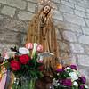 Olbia, 15.05.2012. Festa di San Simplicio. Statua della madonna all'interno della Basilica di San Simplicio.