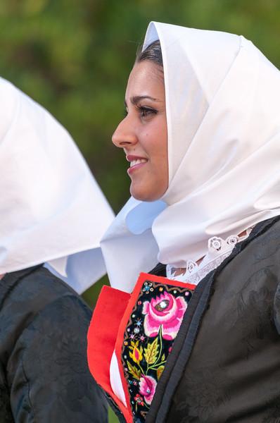 Nuoro, 26.08.2012. Sagra del Redentore festival 2012 - parade of traditional Sardinian costumes.