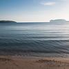 Alghero, baia di Porto Conte, Capo Caccia visto dalla spiaggia Mugoni