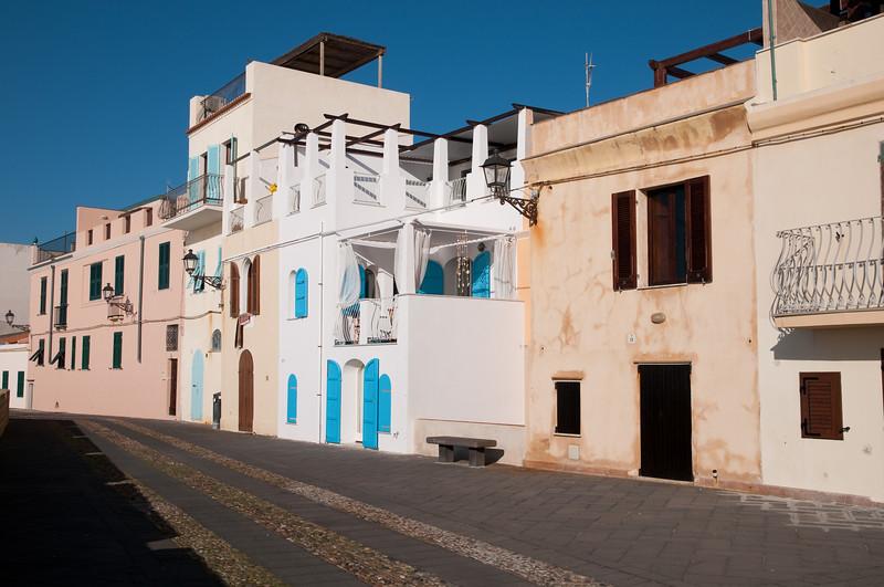 Sardinia, Italy, Alghero: view of the old town - Sardegna, Alghero, bastioni del centro storico