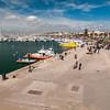 Alghero, Marco Polo ramparts and touristic harbour. Alghero (SS), bastione Marco Polo e porto turistico.