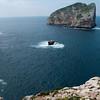 Alghero, Sardinia, Italy: cliffs of Capo Caccia and Foradada island. - Faraglioni di Capo Caccia e l'isola Foradada.