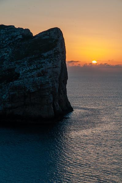 Sardinia, italy: Alghero, sunset at Capo Caccia and Foradada Island. -  Tramonto su Capo Caccia e Isola Foradada