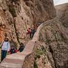 Alghero, Capo Caccia. Per accedere alle sottostanti grotte di Nettuno, oltre che via mare, si può percorrere una scalinata di 654 gradini che si snoda lungo la parete del massiccio di Capo Caccia. Per la particolare conformazione è detta, in catalano, Escala del Cabirol (scala del capriolo).