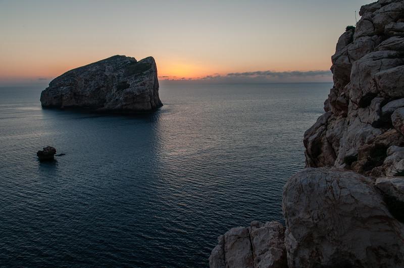 Alghero, Tramonto su Capo Caccia e Isola Foradada