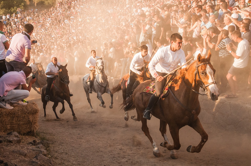 Riders seen here during the final moment of the race as part of the Ardia di Sedilo festival.