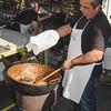 Aritzo, Italy, 25.10.2009. Cortes Apertas 2009, Aritzo: Sagra delle castagne e delle nocciole. preparazione del gattò, dolce tipico sardo.