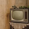 Aritzo, Italy, 25.10.2009. Cortes Apertas 2009, Aritzo: Sagra delle castagne e delle nocciole. Televisore d'epoca in un'abitazione del paese.