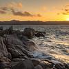 Baja Sardinia, tramonto sul mare.