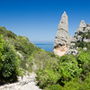 Punta Caroddi Peak (140 mt), near Cala Goloritze', a beautiful bay located in the Ogliastra region, on the Gulf Of Orosei, in the central-eastern coast of Sardinia.
