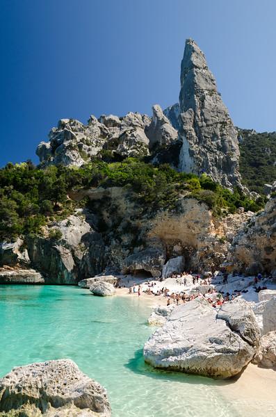 Cala Goloritze' and Punta Caroddi Peak (140mt), a beautiful bay located in the Ogliastra region, on the Gulf Of Orosei, in the central-eastern coast of Sardinia.