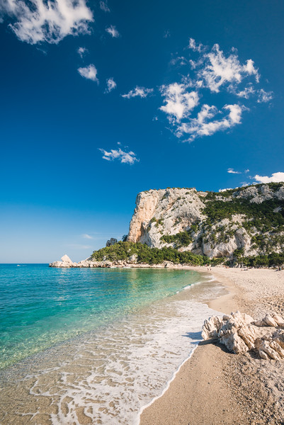 Sardinia: Cala Luna beach, considered one of the most beautiful bay of the Mediterranean Sea. The beach is situated on the territory between Dorgali and Baunei, in the Gulf of Orosei.