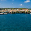 The harbour of Carloforte, San Pietro Island. Carloforte: il porto