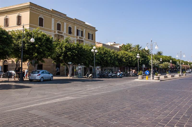City of Carloforte, San Pietro Island, situated on the south-western coast of Sardinia. Carloforte: caratteristiche vie del centro in stile ligure