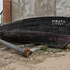 Carloforte: vecchia barca da pesca presso la tonnara