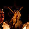 """Sardinia, Italy: rituals of the Holy Week in Castelsardo: """"Lunissanti"""". The religious procession at sunset. (ITA) I riti della Settimana Santa a Castelsardo: Lunissanti. La processione dei misteri al tramonto dalla Cattedrale di S. Antonio Abate"""