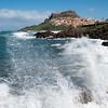 Sardinia, Italy: view of Castelsardo in a windy day - Sardegna, Castelsardo: veduta della città sferzata dal vento di maestrale