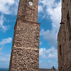 Sardinia, Italy: medieval bell tower of the old town - Sardegna, Castelsardo: il campanile