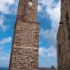 Sardinia, Italy: medieval bell tower of the old town - Sardegna, Castelsardo: il campanile
