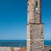 Sardinia, Italy: bell tower of the old town - Sardegna, Castelsardo: il campanile della Cattedrale di Sant'Antonio Abate.