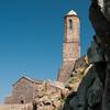 Sardinia, Italy: medieval church and bell tower of Castelsardo.