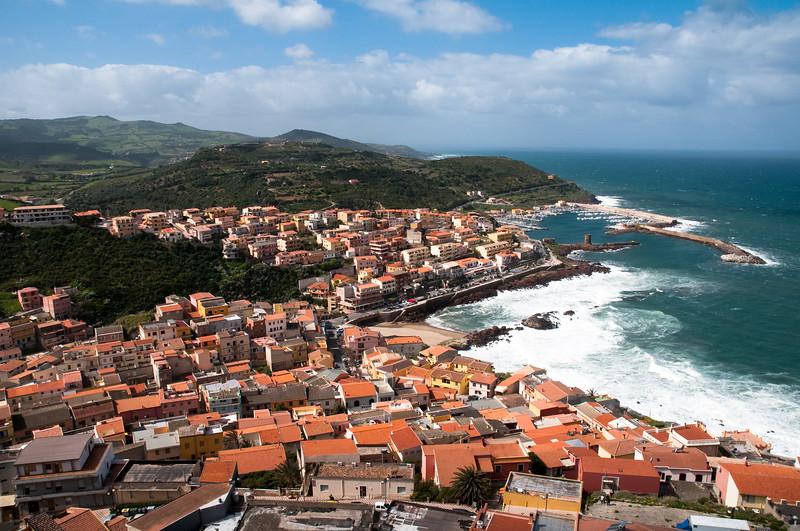 Sardinia, Italy: view of Castelsardo from Doria's castle - Castelsardo: veduta della città e del porto dal Castello dei Doria