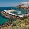 Sardinia, Italy: the city of Castelsardo viewed from the harbour - la citta' di Castelsardo vista dal porto.