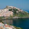 Sardinia, Italy: Castelsardo, panorama of the city.