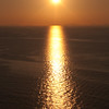 Sardinia, italy: Castelsardo, beautiful sunset on the sea.