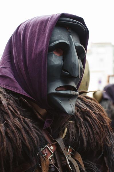 Oliena (NU), Italy, 15.09.2013. Cortes Apertas. Sfilata delle maschere tradizionali del carnavale sardo: i Mamuthones di Mamoiada.