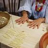 Oliena (NU), Italy, 15.09.2013. Cortes Apertas.Lavorazione della pasta.
