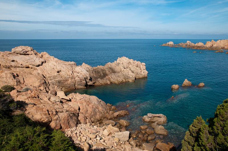 Sardinia, Italy: cilff with transparent water at Costa Paradiso, near Aglientu