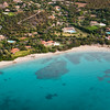 Sardinia, Italy. Aerial view of Costa Smeralda. la Celvia beach.
