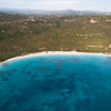 Sardinia, Italy. Aerial view of Costa Smeralda. Liscia Ruja beach.