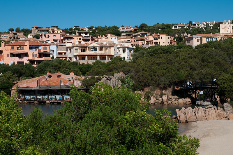 Sardinia, Italy:  view of Porto Cervo, the famous touristic location.
